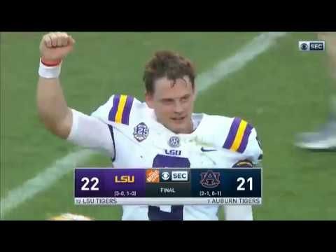 No. 12 LSU Stuns No. 7 Auburn in Last Second Field Goal to Win