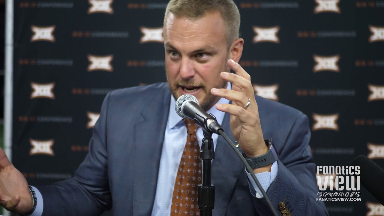 Tom Herman tells Hilarious Story of Breckyn Hager: