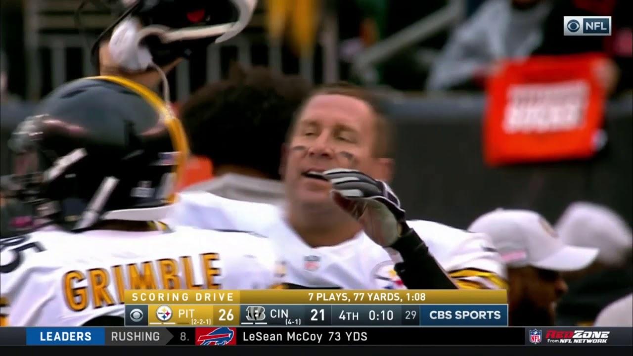 Antonio Brown scores game-winning touchdown against the Bengals
