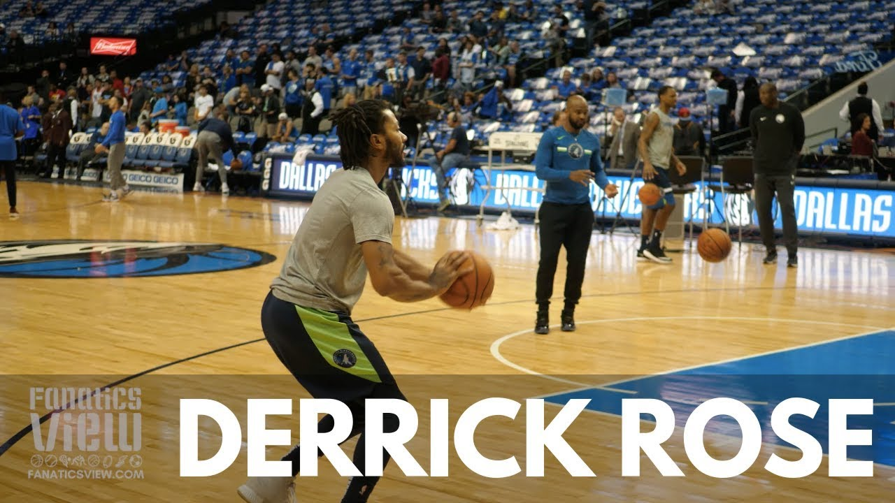 Derrick Rose works on his 3-Pointer in Warm Up vs. Dallas Mavericks