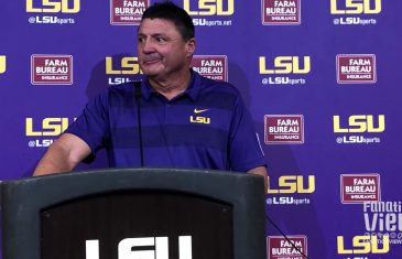 Ed Orgeron speaks on No. 5 LSU Steam Rolling Ole Miss 45-16