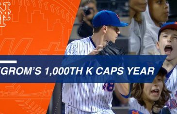 Jacob deGrom tallies 1,000th K in dominant 3-0 win