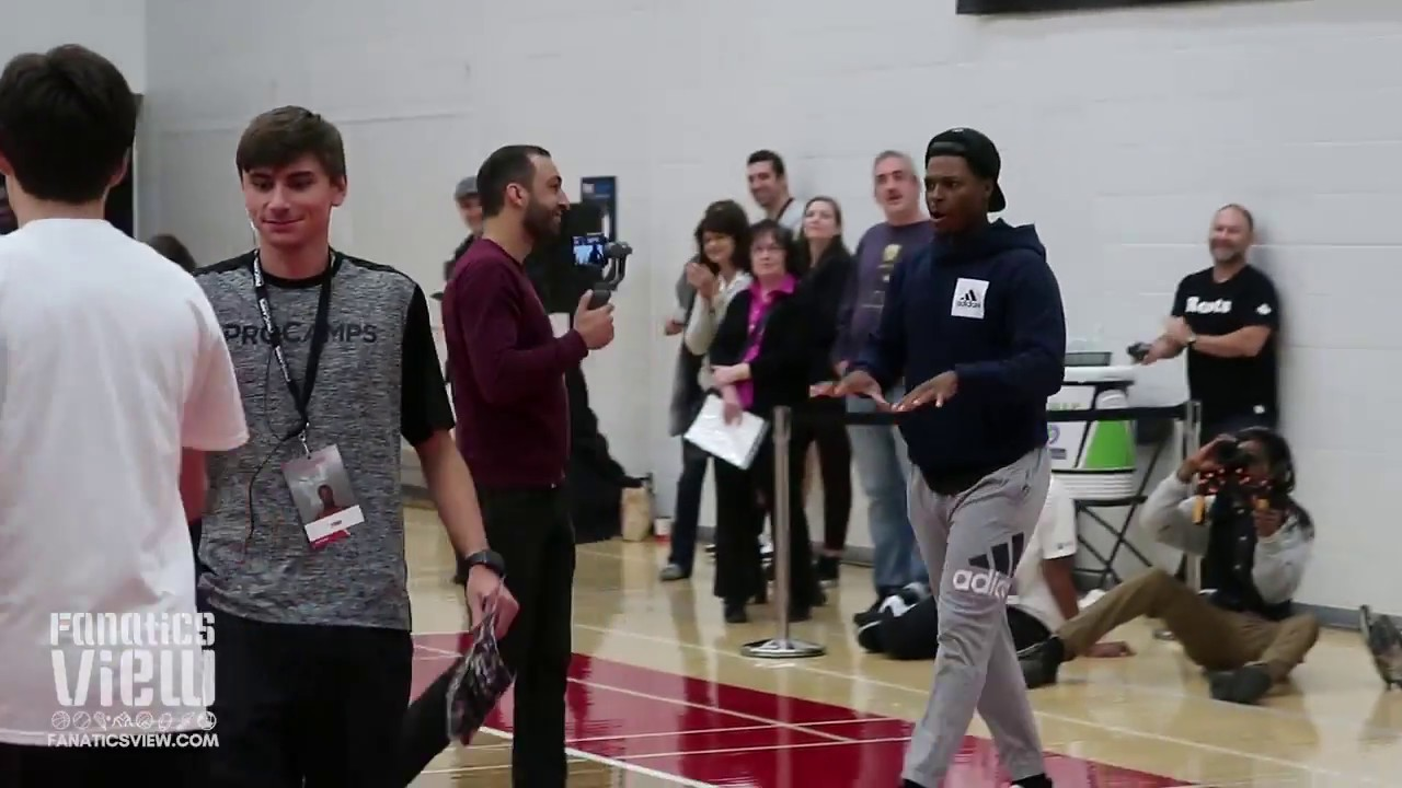 Kyle Lowry Crosses and Puts a Kid on Skates Then Makes Campers Do Push Ups! (SHEESH!)