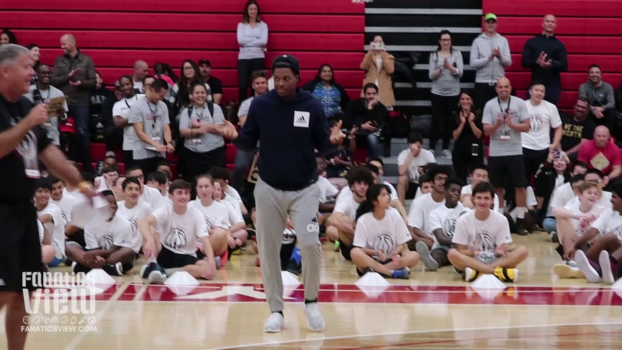 Kyle Lowry Hits a Step Back 3 Right In a Camper's Face
