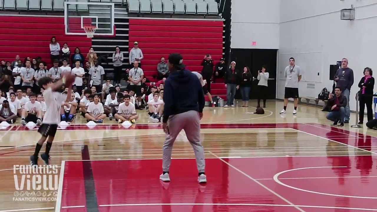 Kyle Lowry with a Hilarious MASSIVE BLOCKED SHOT on a Young Camper