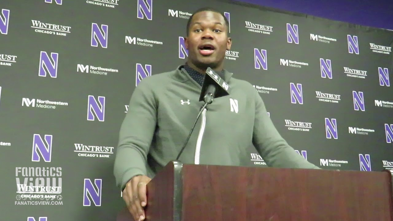 Northwestern CB Montre Hartage on NFL Scouts Watching Him & Beating Wisconsin