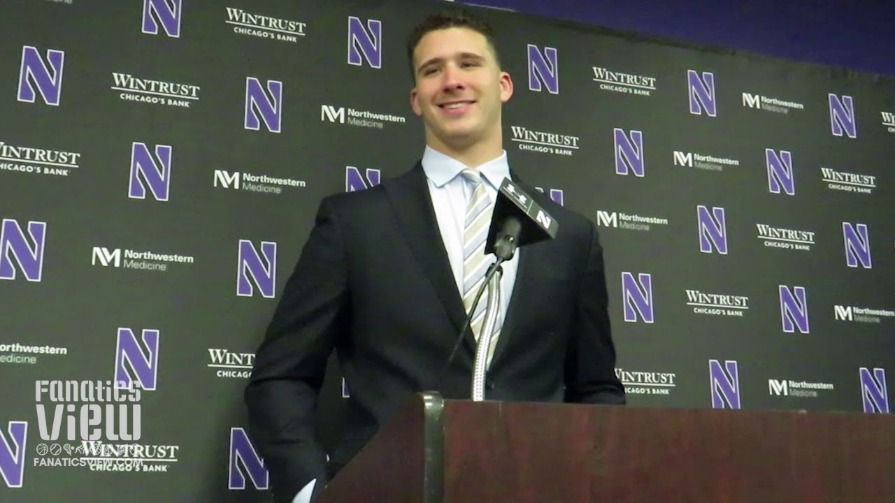 Northwestern LB Paddy Fisher previews Notre Dame Matchup & Talks Wisconsin Win