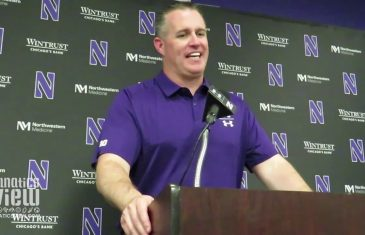 Pat Fitzgerald on Northwestern Upsetting Wisconsin & Notre Dame Matchup (Full Press Conference)