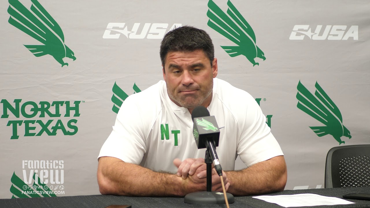 Seth Littrell discusses North Texas' Heart Breaking Loss vs. LA Tech