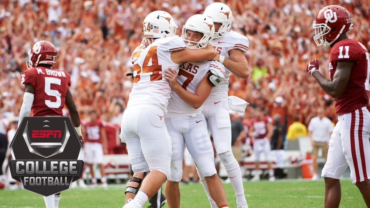 Texas upsets Oklahoma in the Red River Rivalry Game
