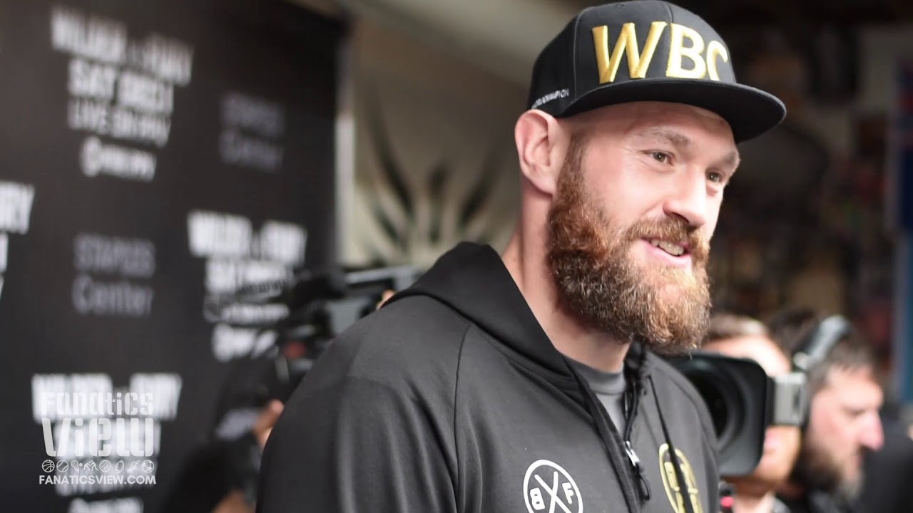 Tyson Fury says he's been 'wrestling with bears' in preparation for Deontay Wilder