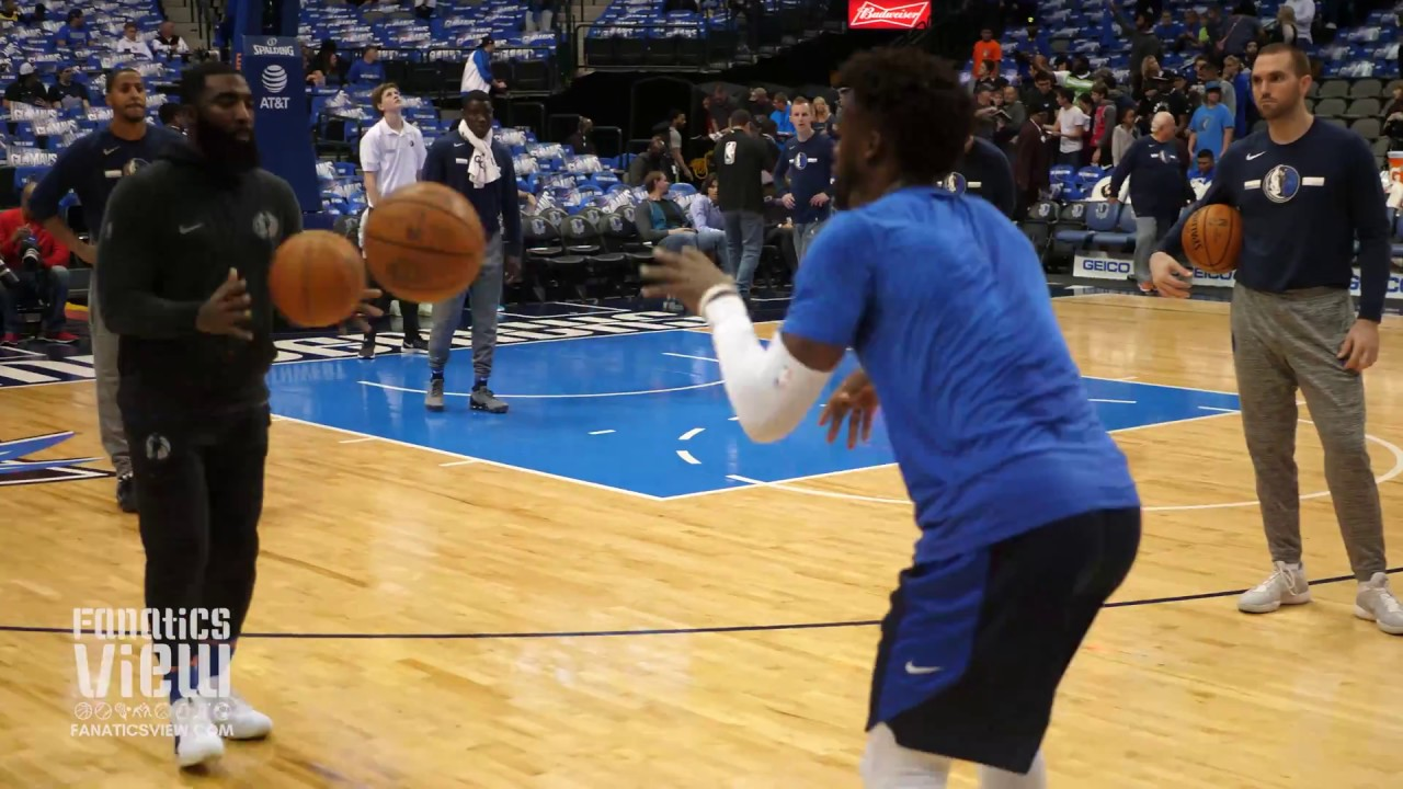 Wesley Matthews works on 3-Point Shot & Handles in Pre-Game Warm Up vs. Minnesota