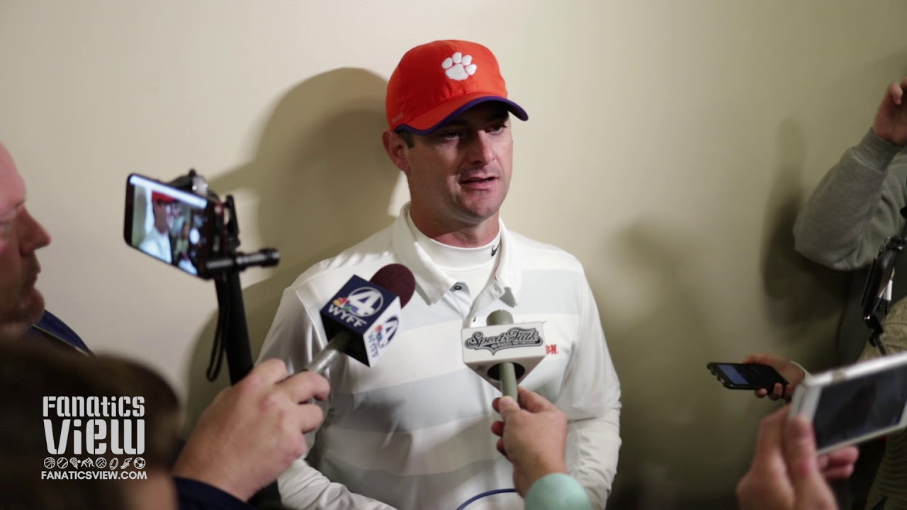 Clemson offensive coordinator Jeff Scott reflects on historic win versus Louisville
