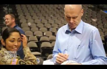 Dirk Nowitzki, Mark Cuban & Rick Carlisle Sign Autographs & Take Pictures with U.S. Military