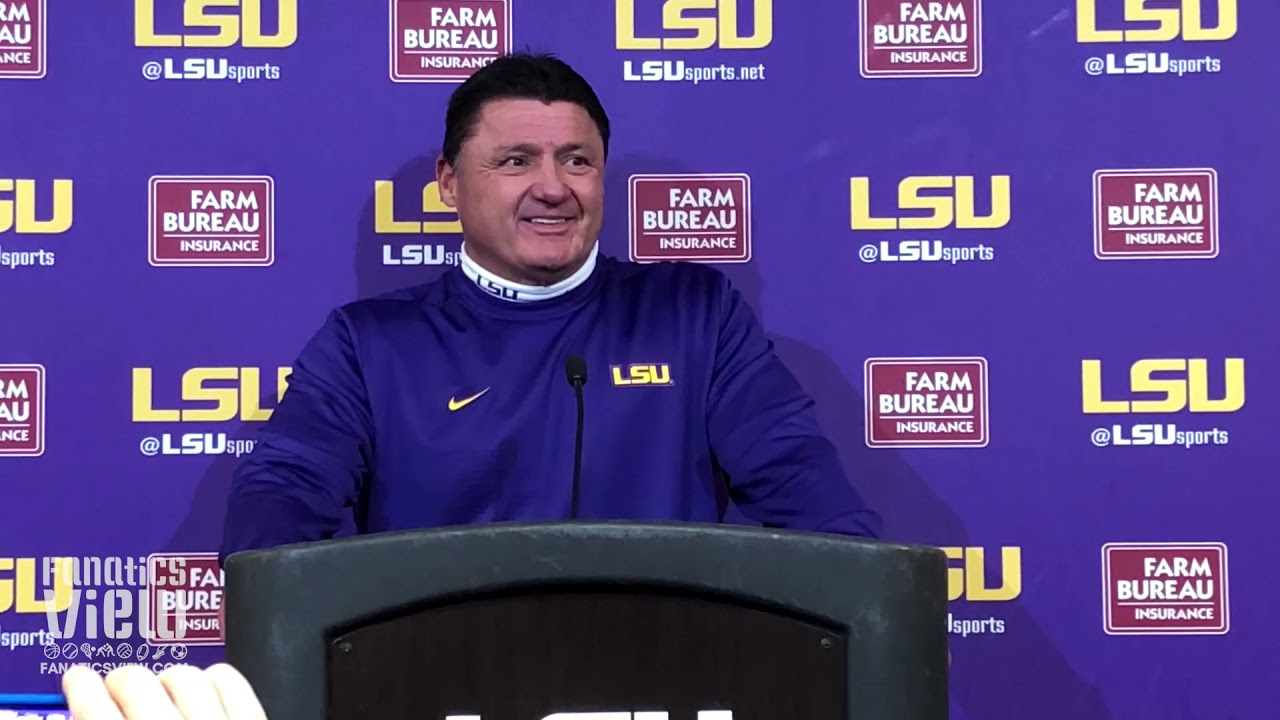 LSU coach Ed Orgeron on Texas A&M Matchup, LSU's Seniors & LSU's Bowl Goal (Full Presser)
