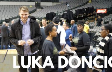Luka Doncic signs Autographs & Takes Pictures with U.S. Military Service Members