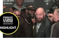 Deontay Wilder and Tyson Fury face off ends in chaos