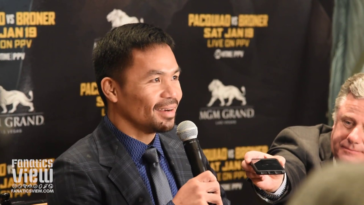 Manny Pacquiao says his primary focus is Adrien Broner