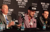 Tyson Fury says Deontay Wilder is the fiercest puncher in boxing history.