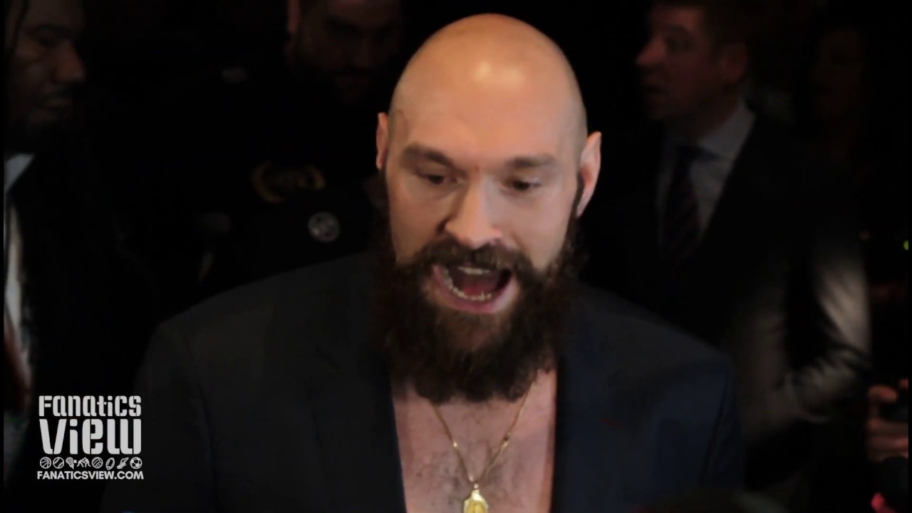 Tyson Fury says Deontay Wilder tried to trigger him during final face off