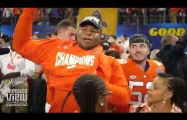 Clemson Celebrates Cotton Bowl Playoff Victory at AT&T Stadium