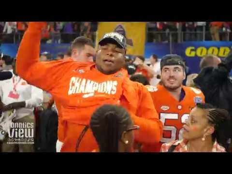 Clemson Celebrates Cotton Bowl Playoff Victory at AT&T Stadium