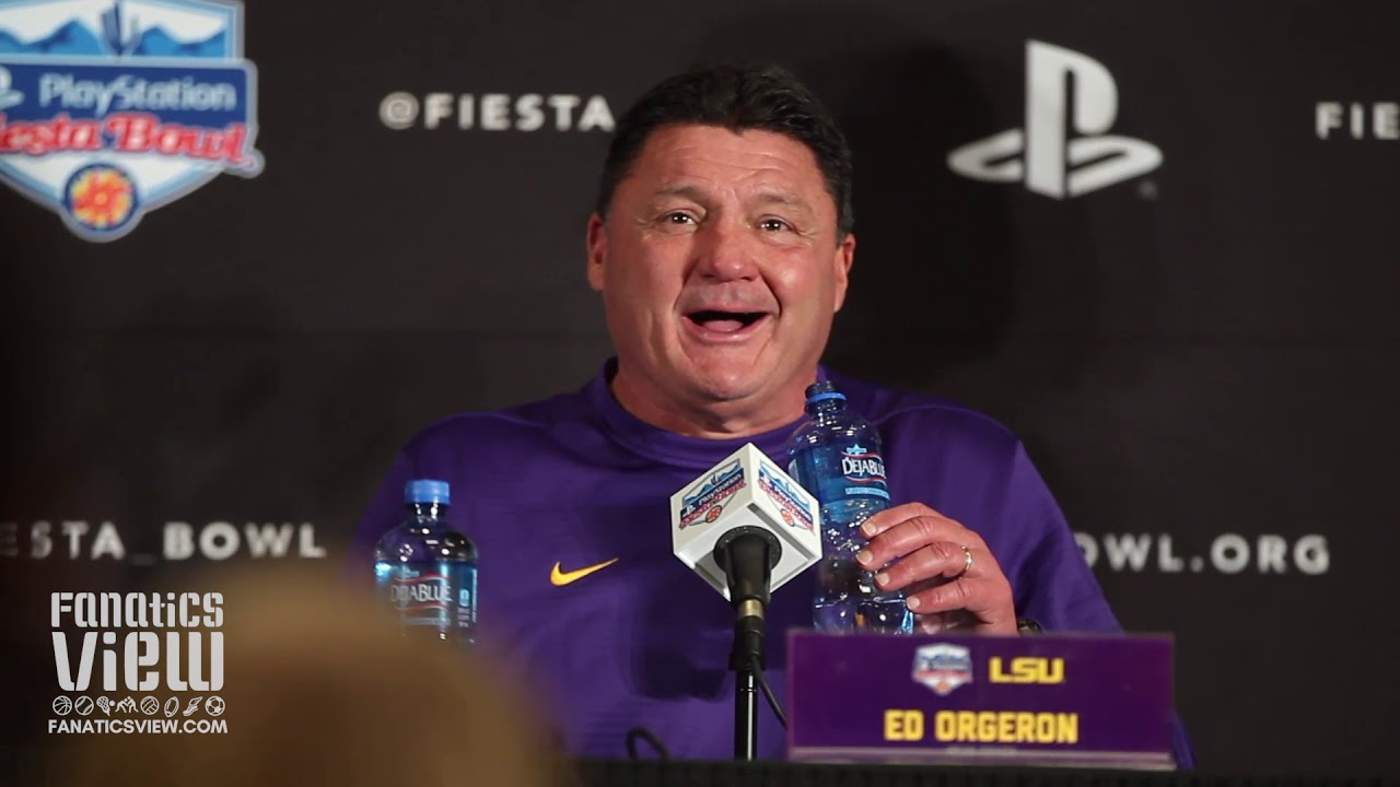 LSU Fiesta Bowl Press Conference Highlights - feat. Ed Orgeron & Joe Burrow (Post-Game)