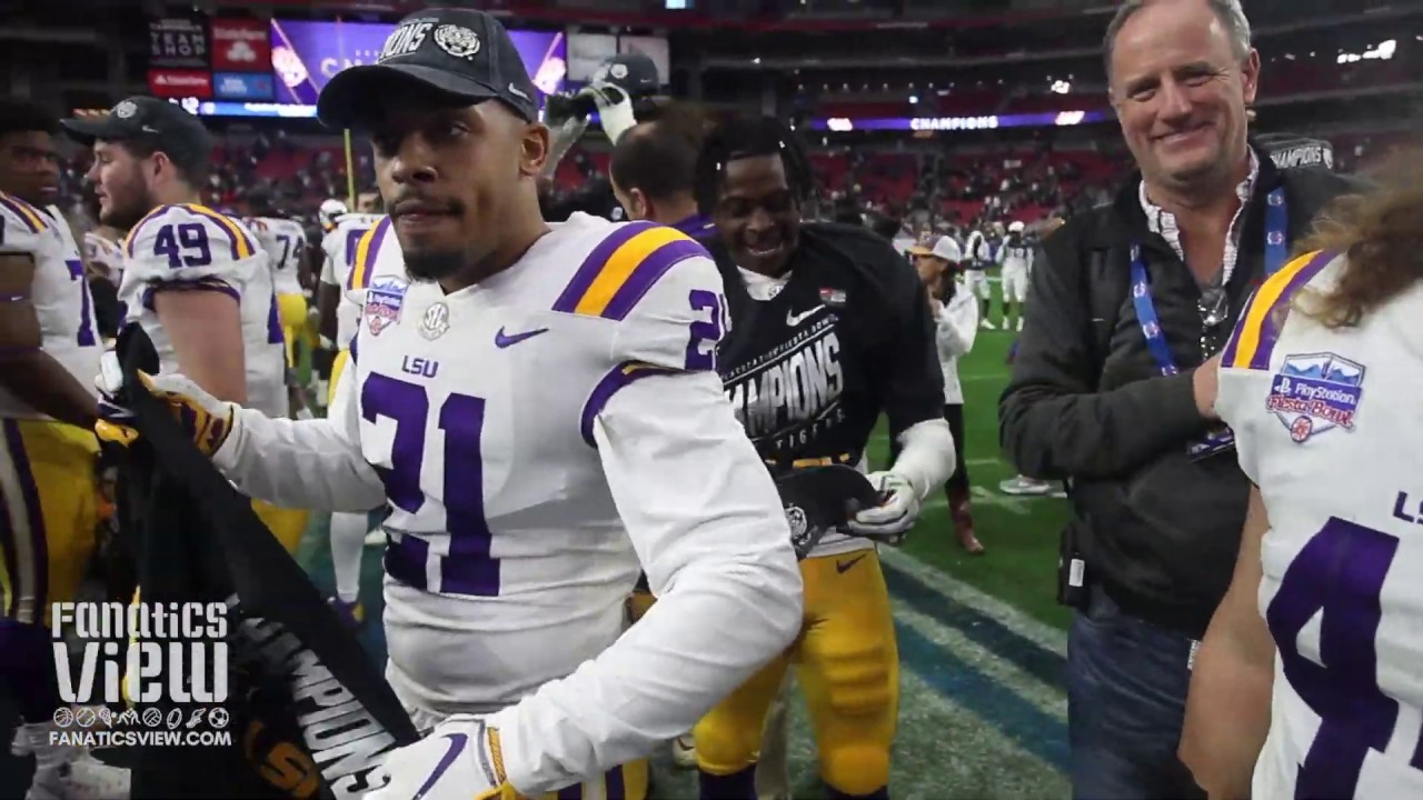 LSU Tigers Celebrate Fiesta Bowl Victory Over UCF at University of Phoenix Stadium