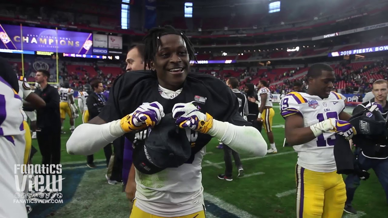 LSU's Jontre Kirklin was ECSTATIC to Win Fiesta Bowl vs. UCF