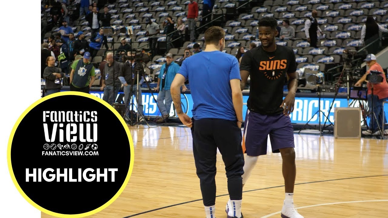 Luka Doncic & DeAndre Ayton share a Moment Pre-Game of Suns vs. Mavs