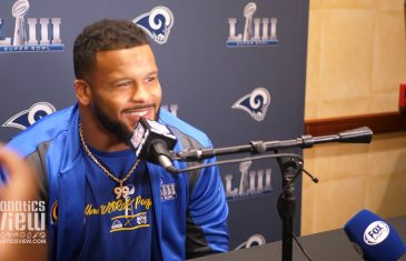 Aaron Donald talks Tom Brady, Studying John Randle & Playing with Ndamukong Suh
