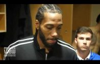 Kawhi Leonard on Beating Wes Matthews, Raptors Zone Defense & Raptors Win vs. Dallas