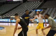 Michael Porter Jr. plays 3-On-3 with Denver Nuggets Teammates & Staff