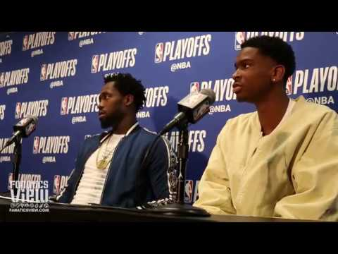 Patrick Beverley & Shai Gilgeous-Alexander speak about being down 3-1 to Golden State