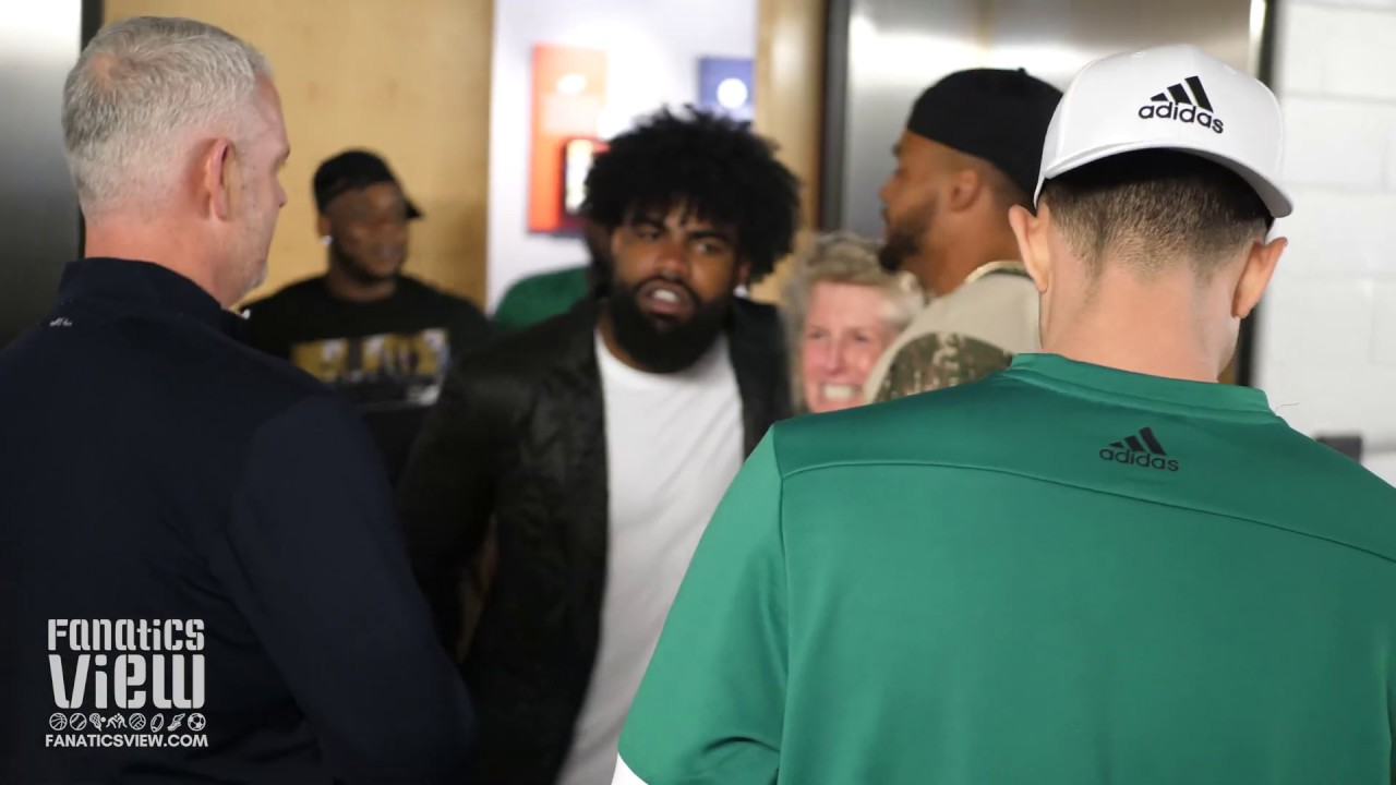 Zeke, Dak show support for the Dallas Stars in Playoffs