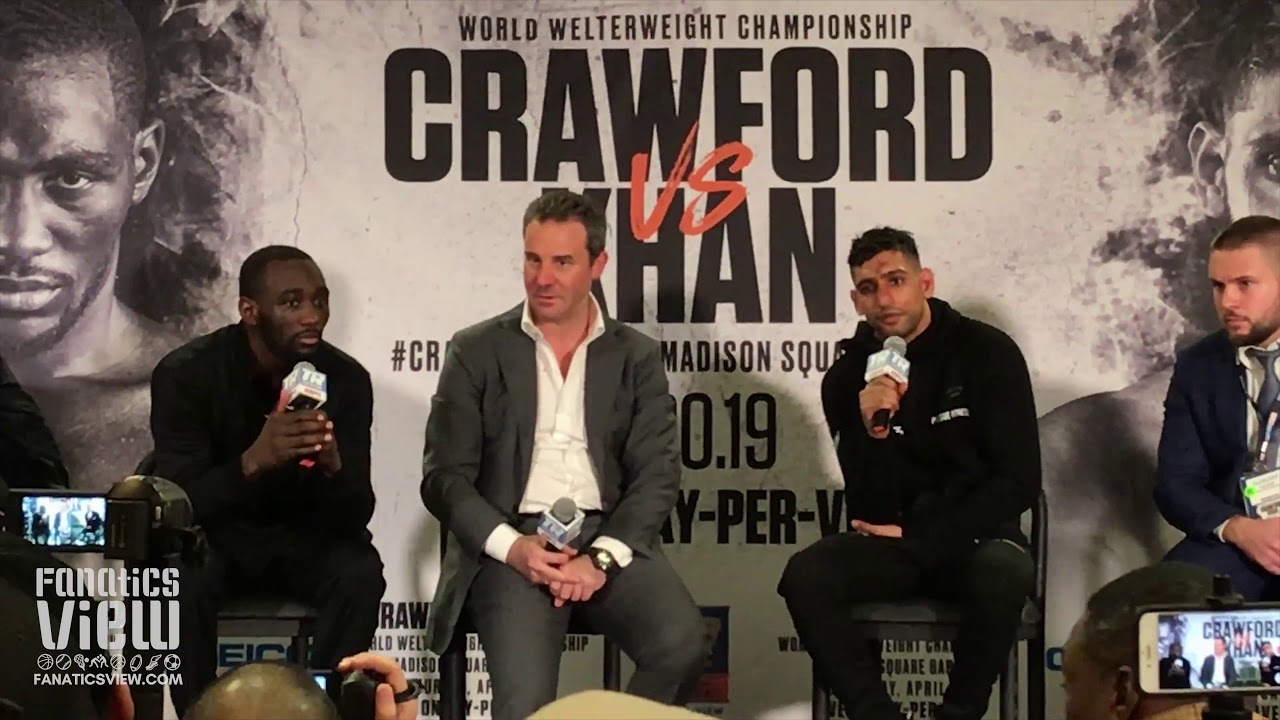 Amir Khan on TKO loss against Terence Crawford: 'I didn't quit.'