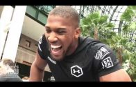 Anthony Joshua Shows Off Power on the Mitts in First Ever Public New York Workout