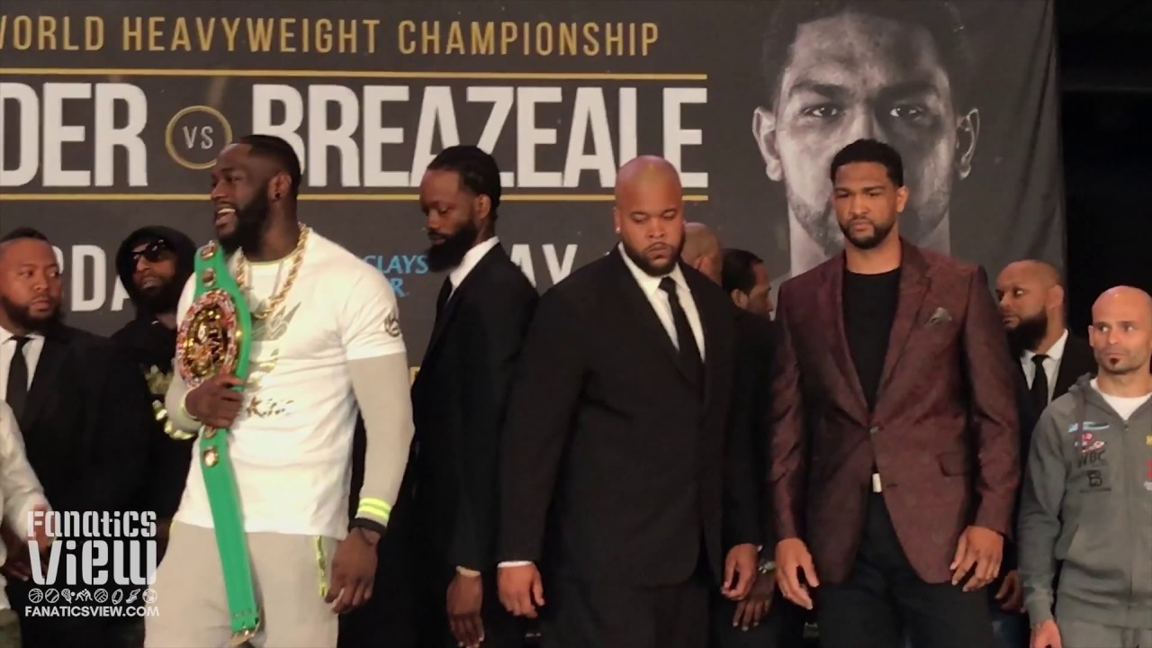 Deontay Wilder and Dominic Breazeale have heated face off