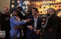 Paulie Malignaggi Spits on Artem Lobov at BKFC 6 Press Conference