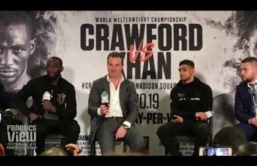 Terence Crawford retains title over Amir Khan after accidental low blow