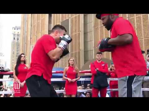 Gennady 'GGG' Golovkin Shows Off Mitt Combinations with New Trainer in New York