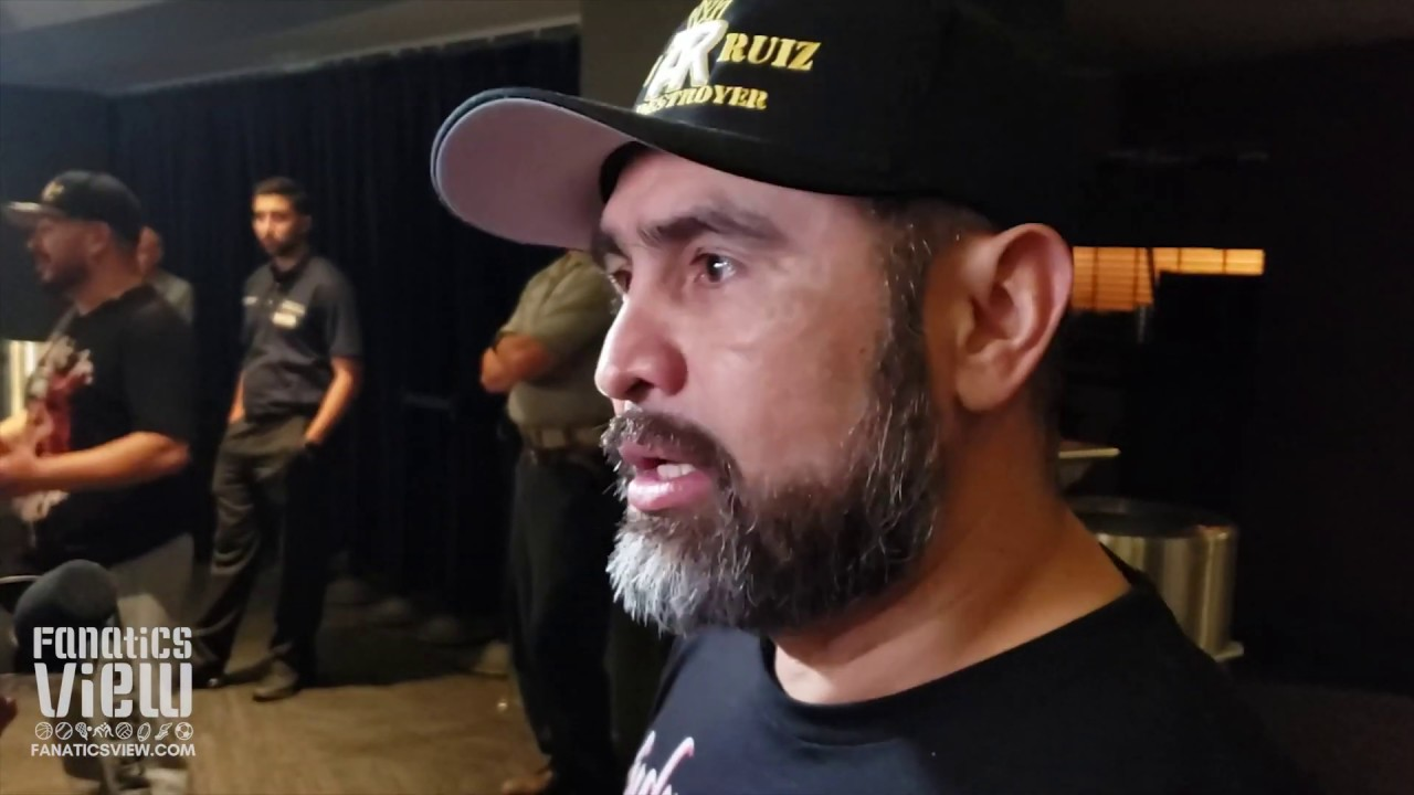 Manny Robles emotional after Andy Ruiz's victory over Anthony Joshua