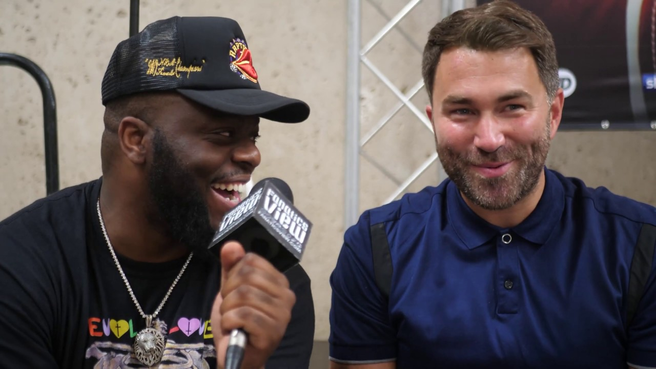 Eddie Hearn says Dillian Whyte was cleared to fight after a 'legal process'