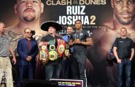 Andy Ruiz and Anthony Joshua have intense face off in New York
