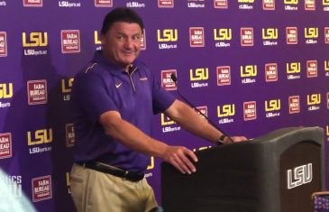 Ed Orgeron talks LSU Blowout Win vs. Georgia Southern & Excitment for LSU's Offense