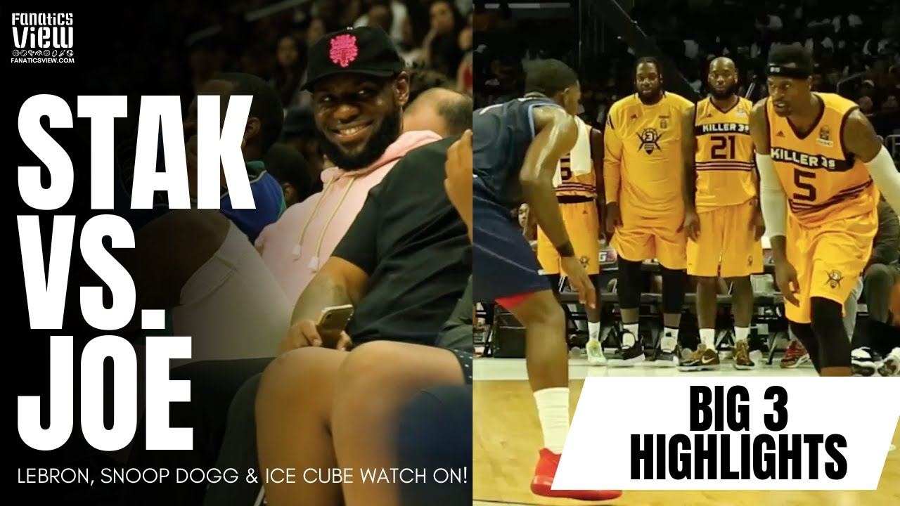 Joe Johnson & Stephen Jackson Square Off in Big3 Championship with LeBRON JAMES WATCHING!