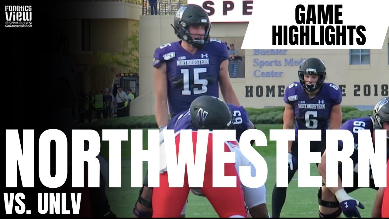 Northwestern Wildcats vs. UNLV Rebels SIDELINE CAM HIGHLIGHTS (Northwestern Defeats UNLV 30-14)