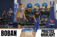 Boban Marjanovic works on 3-Pointers and gets advice from Rick Carlisle