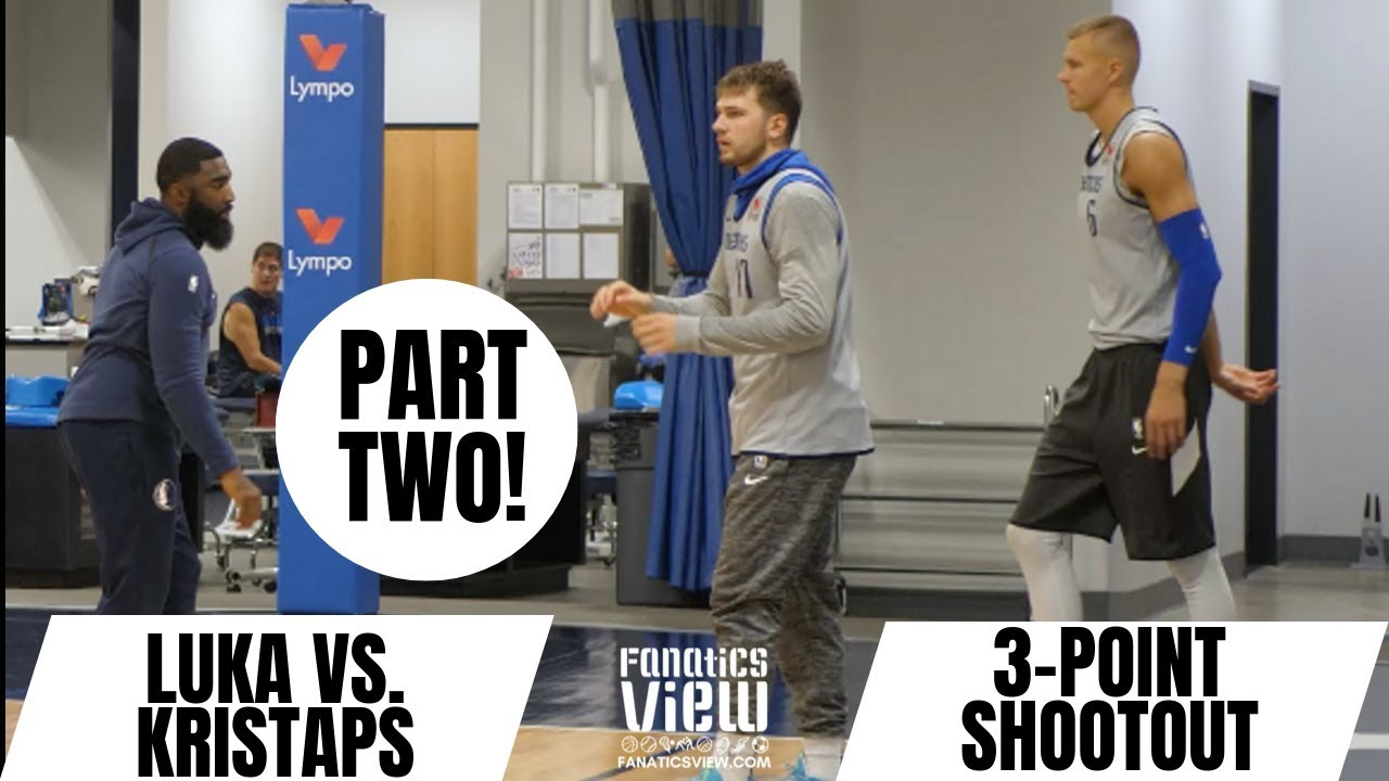Kristaps Porzingis & Luka Doncic face off in 3-Point Battle (Part Two)