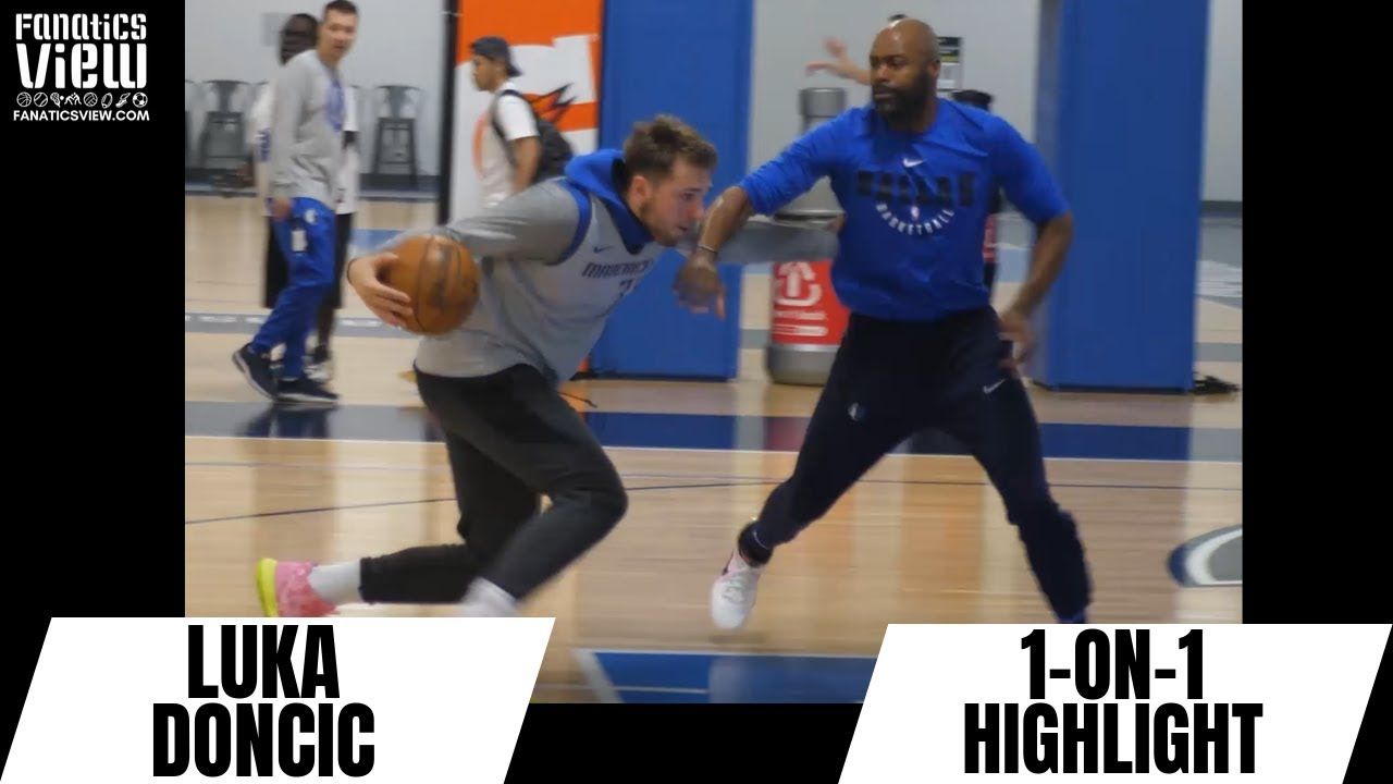 Luka Doncic Has Fun Going One-On-One With Dallas Mavericks Coach